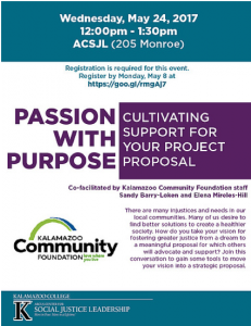 Passion with Purpose flyer